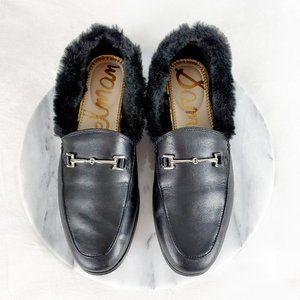 Sam Edelman Horsebit Slipper Loafer with Faux Fur